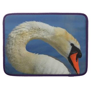 Portrait of a beautiful swan sleeve for MacBook pro