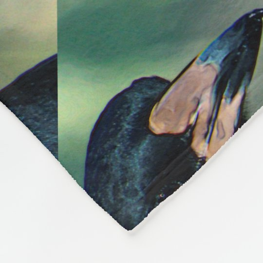 Portrait Of a bird on Fleece Blanket