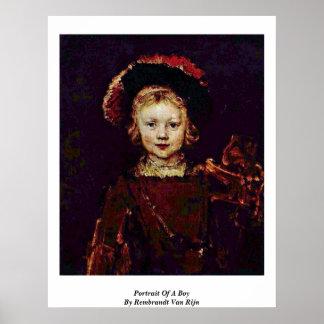 Portrait Of A Boy By Rembrandt Van Rijn Poster