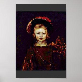 Portrait Of A Boy (Titus Rembrandt'S Son?) Poster