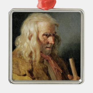 Portrait of a Breton Peasant, 1834 Silver-Colored Square Ornament