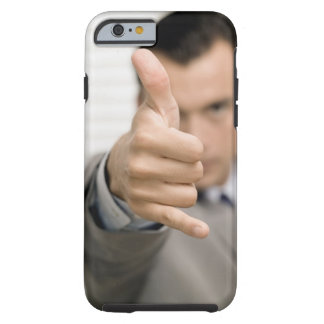 Portrait of a businessman making a thumbs up iPhone 6 case