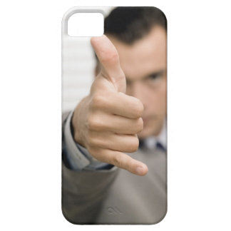 Portrait of a businessman making a thumbs up iPhone 5 covers
