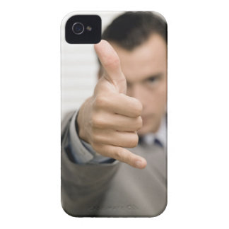 Portrait of a businessman making a thumbs up iPhone 4 Case-Mate cases