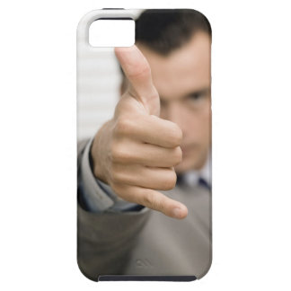 Portrait of a businessman making a thumbs up iPhone 5 cases