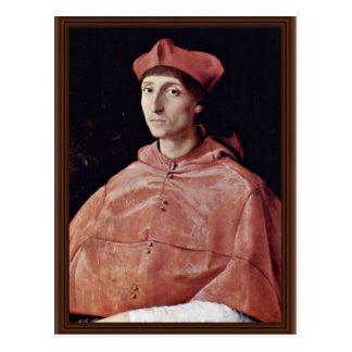 Portrait Of A Cardinal By Raffael (Best Quality) Postcard