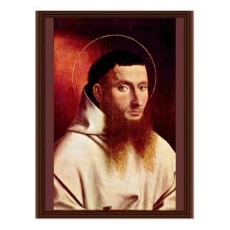 Portrait Of A Carthusian By Christus Petrus Postcard