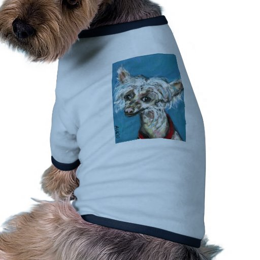 Portrait of a Chinese Crested Dog Pet Tee