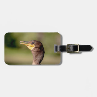 Portrait of a Cormorant Luggage Tag