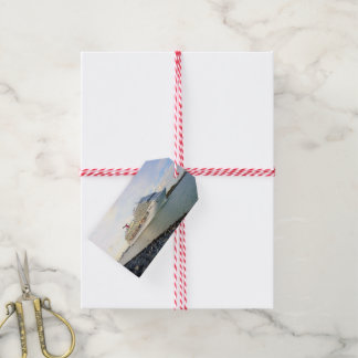 Portrait of a Cruise Ship Custom Gift Tags