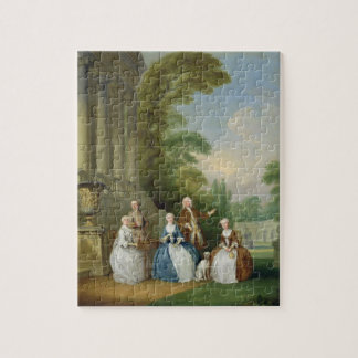 Portrait of a Family, 1740 (oil on canvas) Jigsaw Puzzle