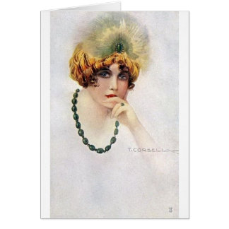 Portrait of a Flapper, Card