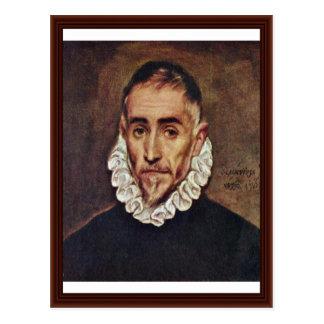 Portrait Of A Gentleman By Greco El Postcard
