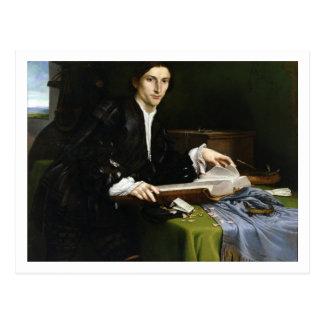Portrait of a Gentleman in his Study, 1528-30 (oil Postcard