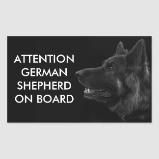 Portrait of a german shepherd dog sticker