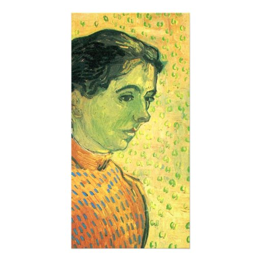 Portrait of a girl by Vincent van Gogh Custom Photo Card