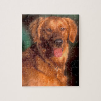 Portrait of a golden retriever jigsaw puzzle