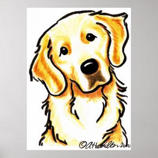 Portrait of a Golden Retriever Poster