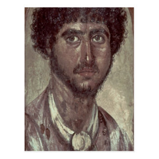 Portrait of a Greek, from Fayum, Romano-Egyptian, Postcard