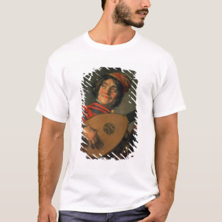 Portrait of a Jester with a Lute (oil on canvas) T-Shirt