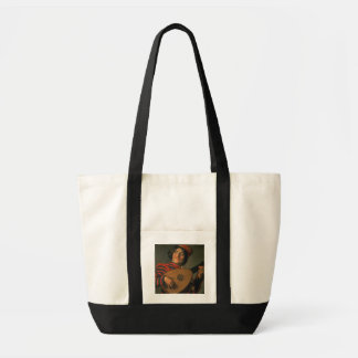 Portrait of a Jester with a Lute (oil on canvas) Tote Bag