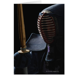 Portrait of a Kendo Fencer 6 Card