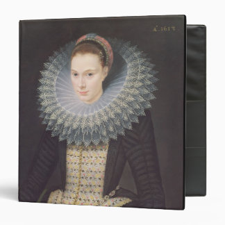 Portrait of a Lady, 1613 (oil on panel) 3 Ring Binders