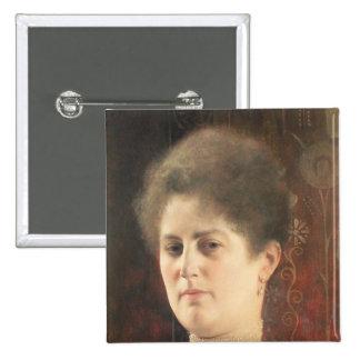 Portrait of a lady 2 inch square button