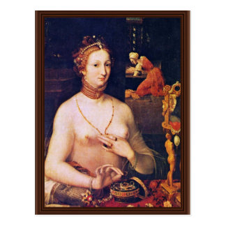 Portrait Of A Lady At Her Toilette,  By Meister De Postcard