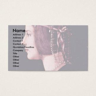 Portrait Of A Lady,  By Ambrogio De Predis Business Card