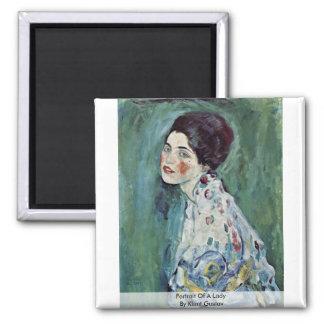 Portrait Of A Lady By Klimt Gustav Magnets