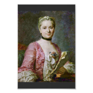Portrait Of A Lady By Maurice Quentin De La Tour ( Poster