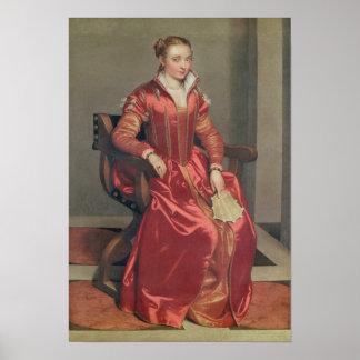 Portrait of a Lady, c.1555-60 Poster