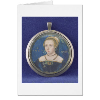 Portrait of a Lady, possibly Lady Jane Grey, c.154 Card