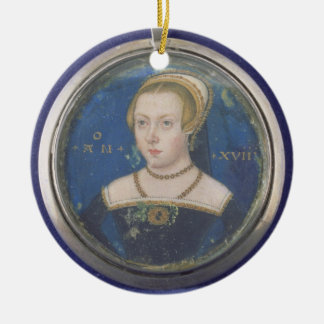 Portrait of a Lady, possibly Lady Jane Grey, c.154 Ceramic Ornament