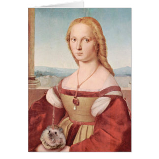 Portrait of a Lady with a Hedgiecorn Card
