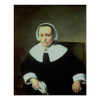 Portrait of a Lady with White Collar and Cuffs Poster