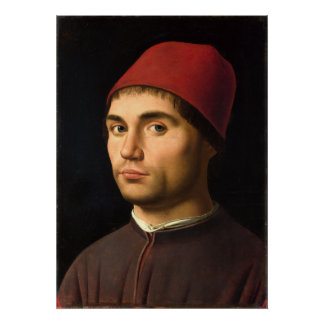 Portrait of a Man by Antonello da Messina Poster