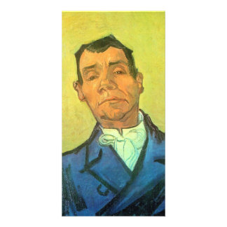 Portrait of a man by Vincent van Gogh Customized Photo Card