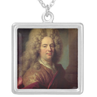 Portrait of a Man, c.1715 Silver Plated Necklace