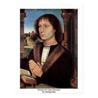 Portrait Of A Man (Giovanni) By Memling Hans Postcard
