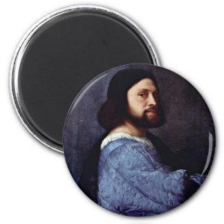 Portrait Of A Man (L'Ariosto) By Tizian Magnet