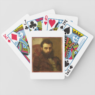 Portrait of a Man (oil on panel) Bicycle Playing Cards
