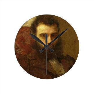 Portrait of a Man (oil on panel) Clock
