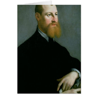 Portrait of a man with a ginger beard card