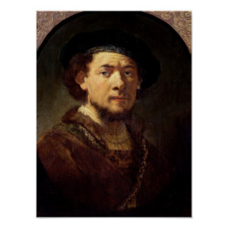 Portrait of a Man with a Gold Chain Print