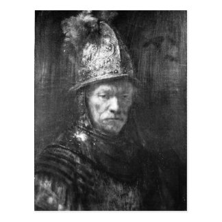 Portrait of a Man with a Golden Helmet, 1648 Postcard