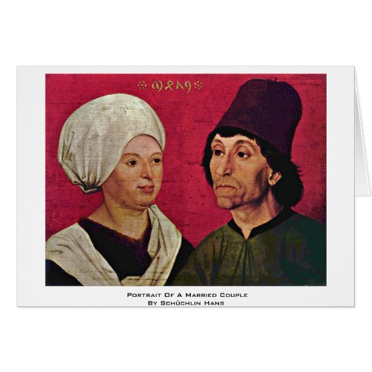 Portrait Of A Married Couple By Schüchlin Hans Card