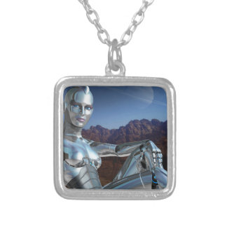 Portrait of a Memory Silver Plated Necklace