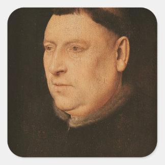 Portrait of a Monk Square Sticker